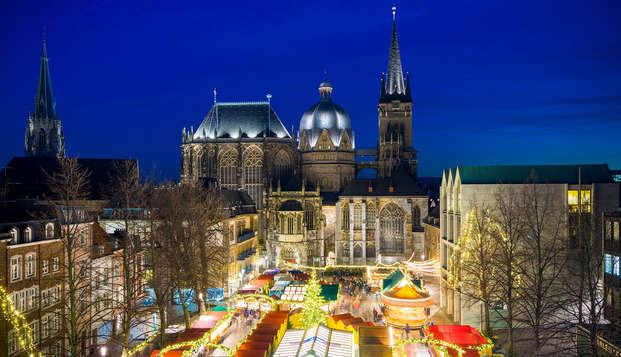 Descubre el hermoso mercado navideño en Aquisgrán cerca de Düren