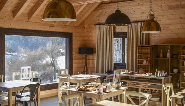 Evasión en Piedrafita de Jaca en encantadoras casitas de madera en el Pirineo