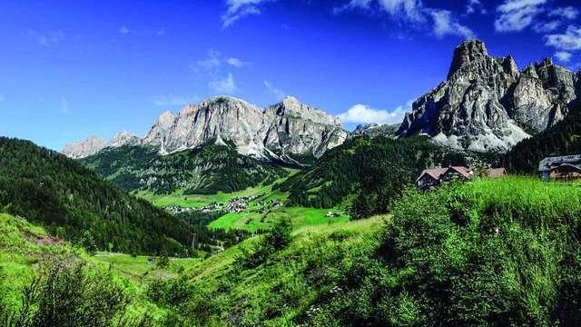 Cadre pittoresque et paysages époustouflants à Corvara