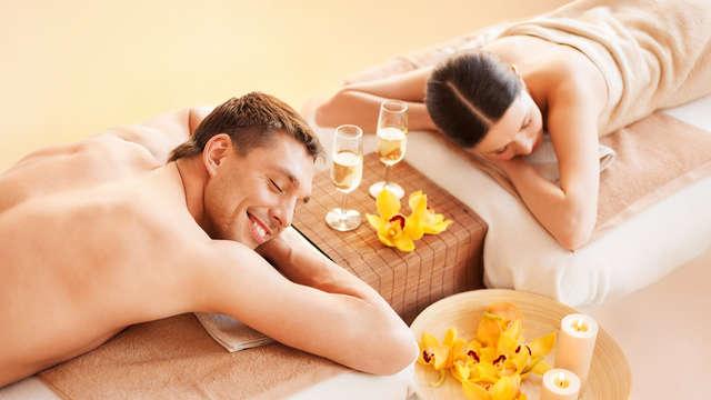 Oferta especial para parejas: cena asturiana, acceso al spa y masaje relajante para dos