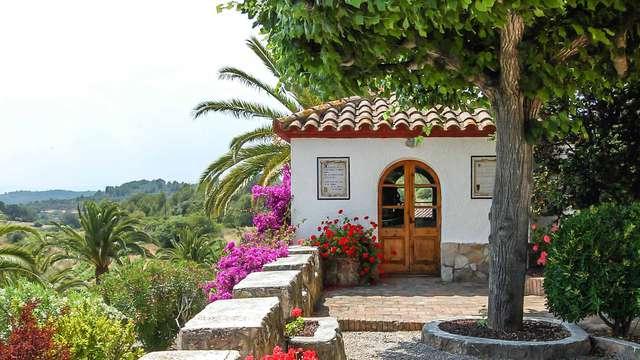 Brindisi in una casa di campagna catalana