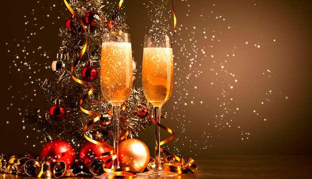 Especial Fin de Año en Binéfar: Con cena de gala, música en directo y barra libre ¡Inolvidable!