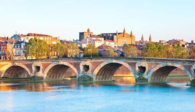 Reposez-vous confortablement aux abords de Toulouse, la ville rose