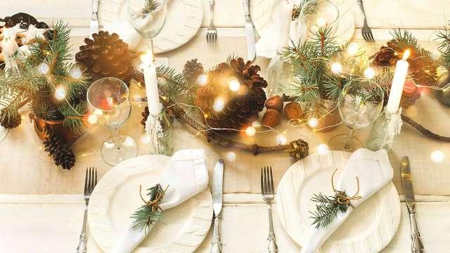 Dîner du réveillon de Noël 5 plats pour 2 adultes