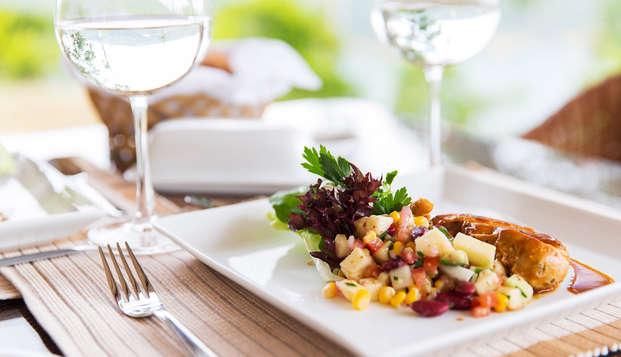 Détente et dîner dans un écrin de verdure près de Durbuy