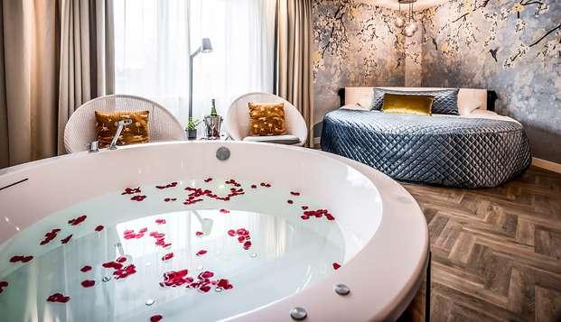 Romantisme dans une suite luxueuse avec jacuzzi à Maastricht