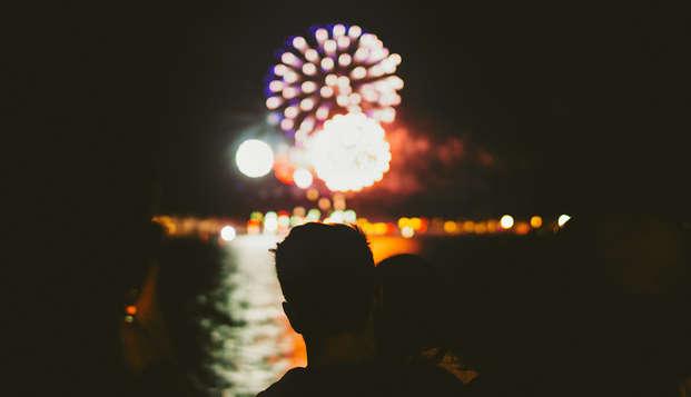 Vol romantiek het nieuwe jaar in, inclusief een 3-gangen diner en wellness!