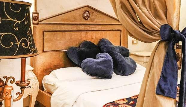 Rome romantique : hôtel 4 étoiles en chambre avec lit à baldaquin et SPA inclus
