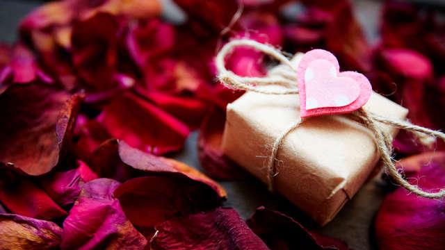 Wordt verliefd op elkaar en de stad Dinant met een romantisch diner