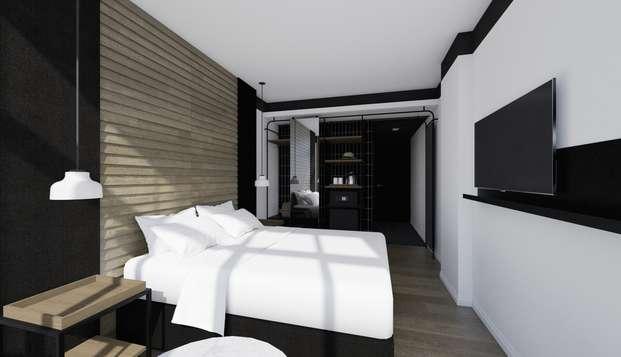 Alójate en el nuevo hotel Casa Elliot con desayuno incluido, en el centro de Barcelona
