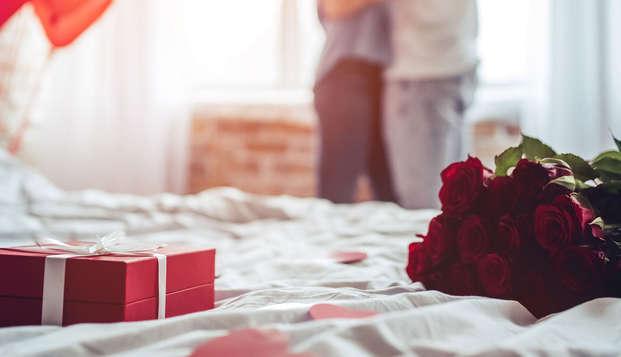 Portez un toast à l'amour de votre vie avec des bulles dans une ambiance romantique !