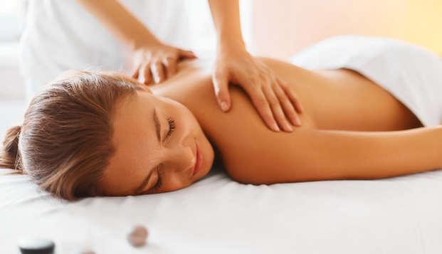 Relax total con masaje, Spa ilimitado y bombones en habitación vista mar