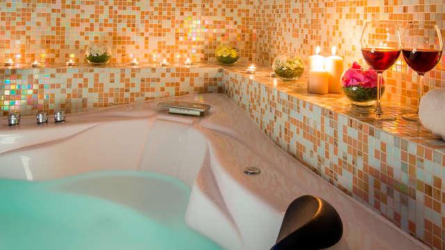 Relajante estancia en Salsomaggiore Terme en una habitación con jacuzzi y cena