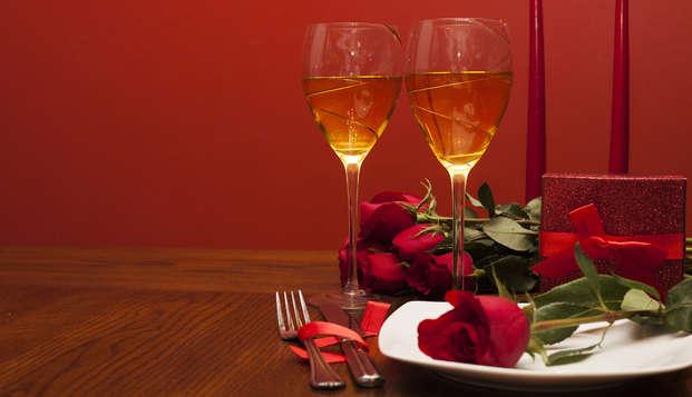 Échappée gourmande avec dîner 3 plats et champagne pour la Saint-Valentin à Fontainebleau