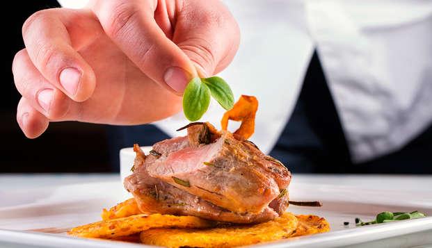 Séjour de la Saint Valentin avec dîner gastronomique 5 plats, dans l'Aveyron