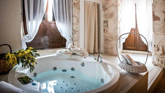 Romantische nacht in Conversano in Junior Suite met jacuzzi en 4-gangendiner