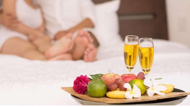 Romance au champagne et grasse matinée aux portes de Paris dans une chambre executive