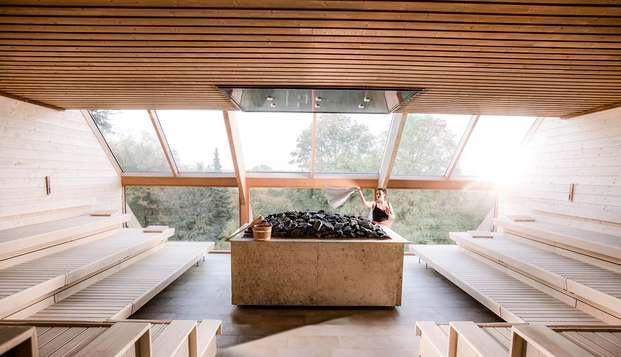 Offre semaine bien-être avec dîner et expérience unique dans le nouveau sauna panoramique