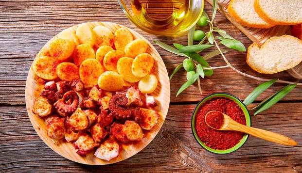 Escapada Sabores de Galicia con cena en la Pulpería El Carral y entrada a las termas