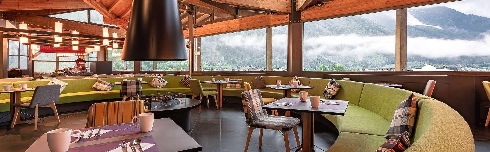 Dîner et détente en famille avec vue sur le Mont Blanc, à Chamonix
