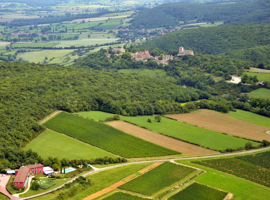 La Montagne de Brancion - Vista aérea