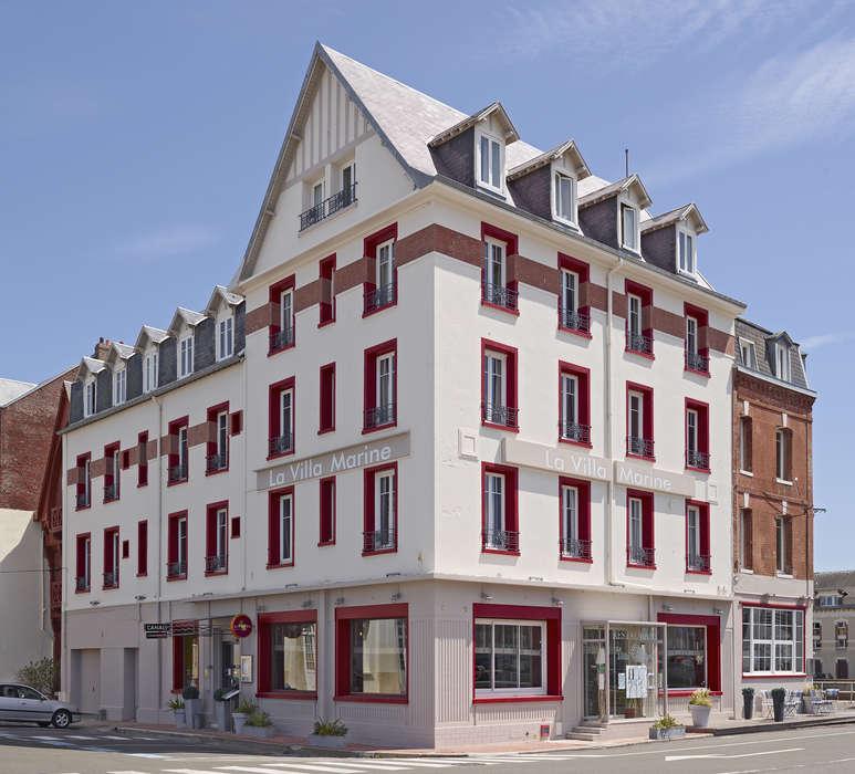 The Originals Boutique, Hôtel La Villa Marine, Le Tréport  - Façade