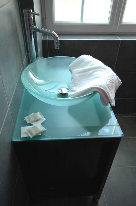 Hôtel restaurant La Pêcherie - Salle de bain standard