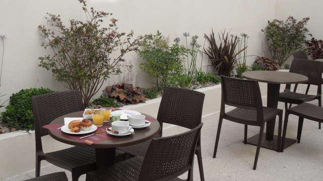 Hotel Marseille Charles - les balladins terrasse