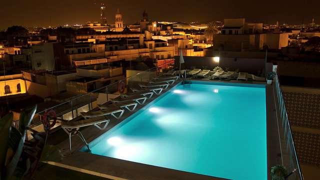 accesso alla piscina esterna