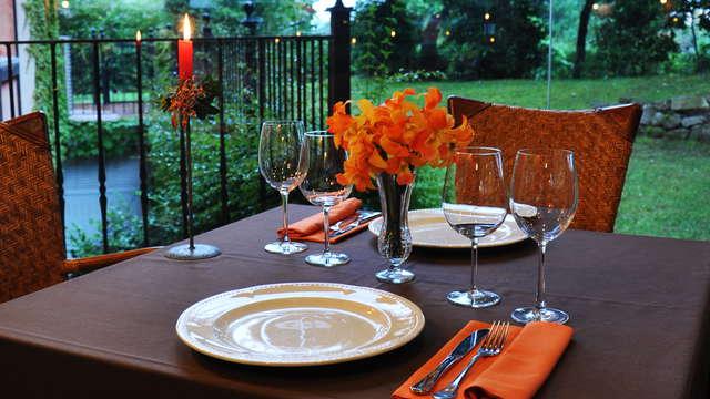 cena 3 platos para 2 adultos