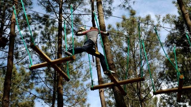 Circuito por los árboles para 2 adultos