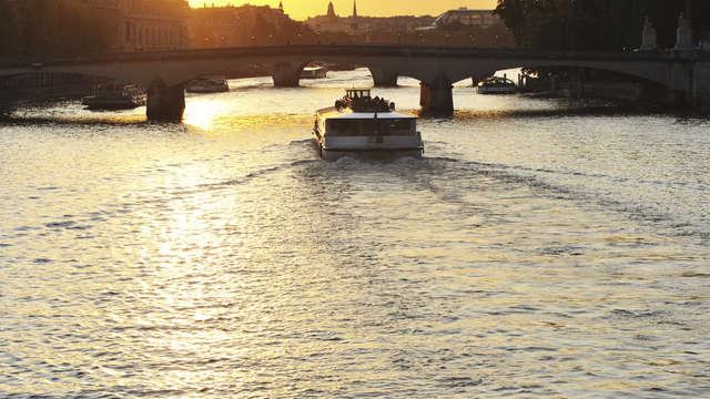 Croisière en bateau sur la Seine pour 2 adultes