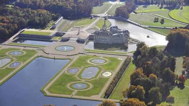 Tiara Chateau Hotel Mont Royal Chantilly - vue aerienne- basse definition- copyright J L Aubert