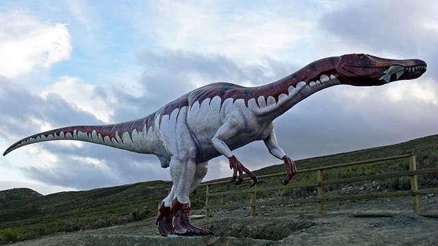 Folleto de ruta de los dinosaurios