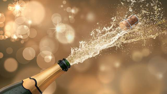 1 Botella de champán