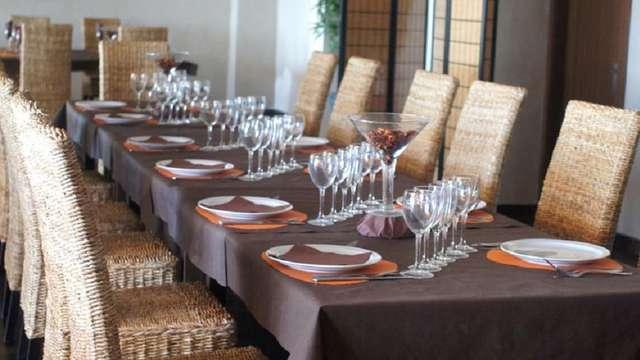 cena a la luz de las velas 3 platos