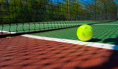 accès au terrain de tennis