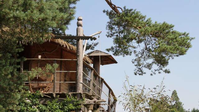1 nuit en cabane standard Vue lac pour 2 adultes
