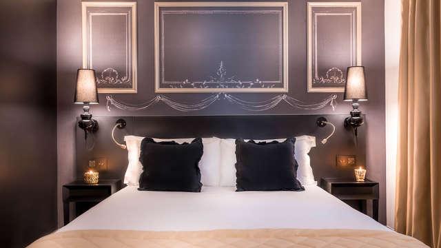 Hotel Beauchamps - chambre standard noir-