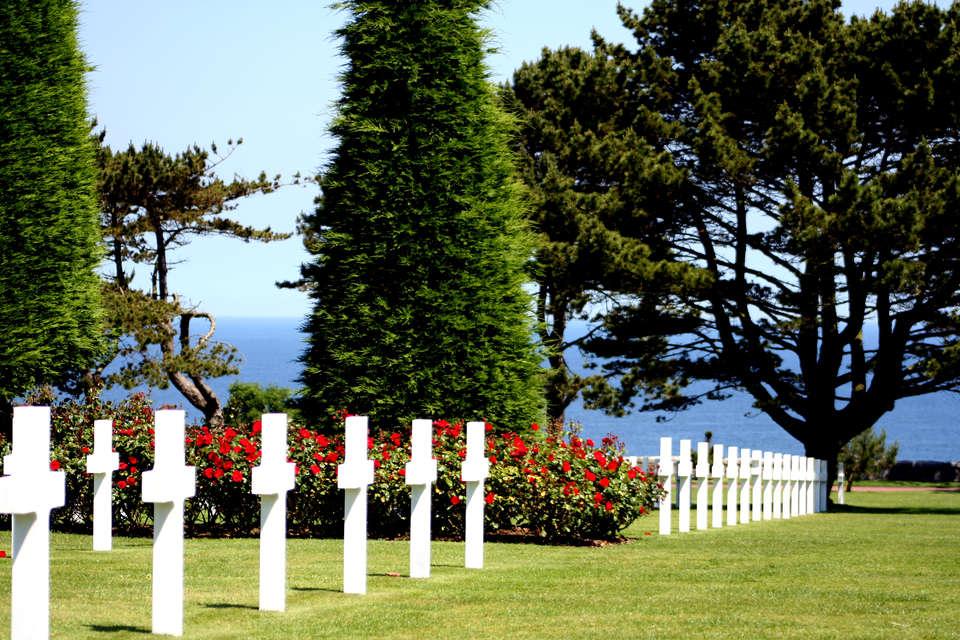 Hôtel le Canada   - Le cimetière américain à Omaha Beach