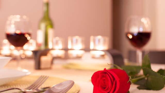 cena romántica 5 platos