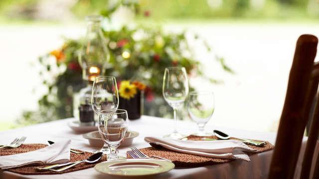 1 Dîner 3 plats dans un restaurant au choix parmi nos partenaires pour 2 adultes