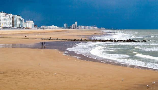 Été au bord de la mer avec nuitée et accès au centre de bien-être à Ostende