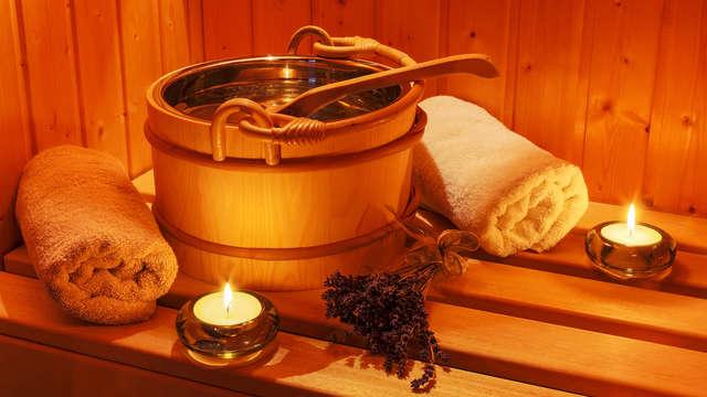 1 toegang tot de sauna voor 2 volwassenen (dag 1 en dag 2)