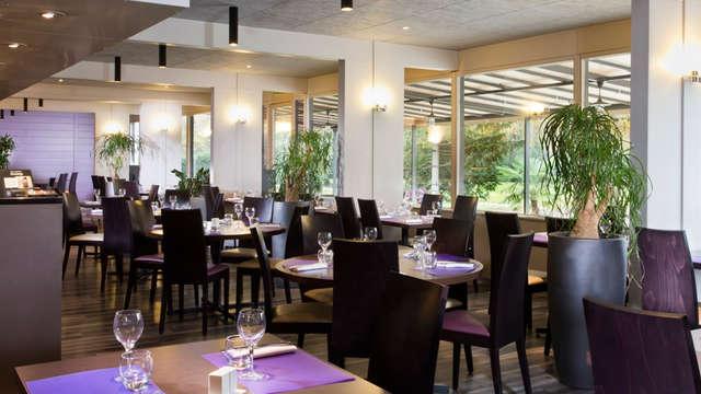 Cena junto al lago Bourget, en Chambéry