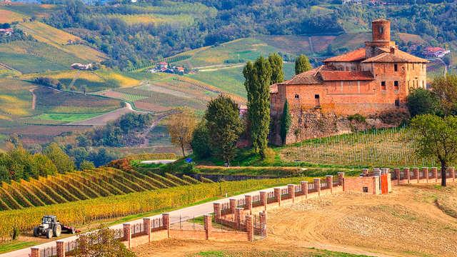 Amanti dell'enologia: notte e ingresso incluso alla Banca del Vino a Bra, tra le colline piemontesi!