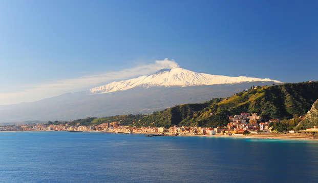 Vacanza alle pendici dell'Etna in elegante hotel ed upgrade in camera
