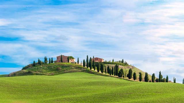 Excellent hôtel au cœur de la campagne toscane