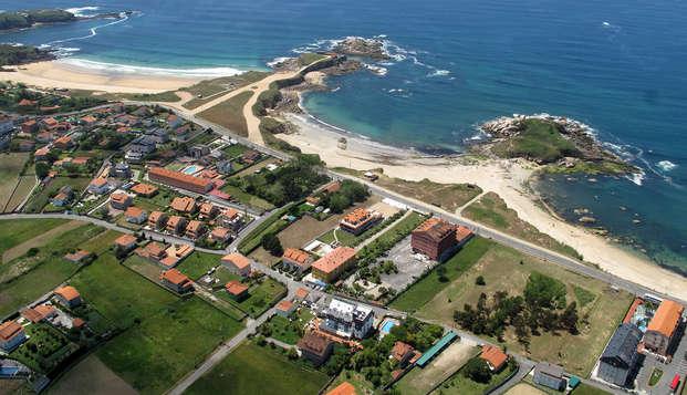 Romantisme face à la plage de la Lanzada à Sanxenxo