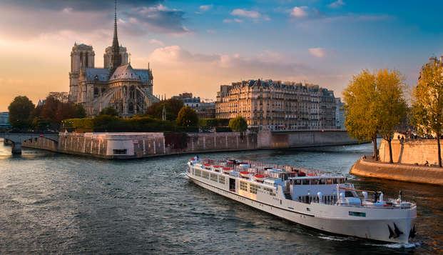 Saint Valentin d'exception en dîner croisière sur la Seine !